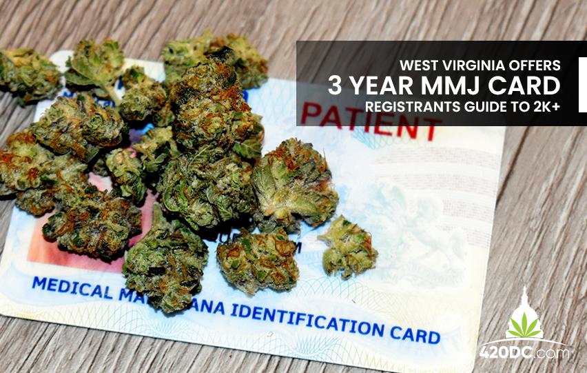 West Virginia 3-Year MMJ Card, Registrants